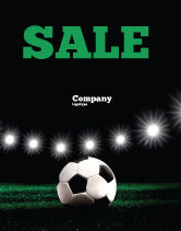 Sports: Football Stadium In The Night Sale Poster Template #06916