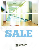 Medical: Hospital Hallway Sale Poster Template #06928
