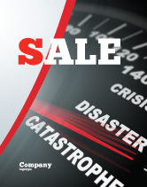 Financial/Accounting: Catastrophe Speedometer Sale Poster Template #06936