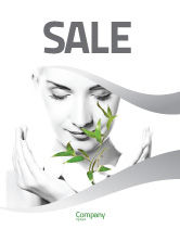 Nature & Environment: Bio Cosmetics Sale Poster Template #07032