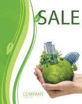 Nature & Environment: Green Habitat Sale Poster Template #07037