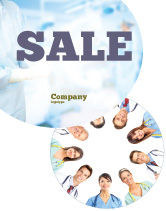 People: Medical Personnel Circle Sale Poster Template #07059