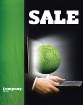 Global: Green Solutions Sale Poster Template #07063