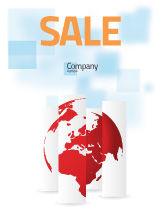 Global: Gefragmenteerde Wereldkaart Poster Template #07090