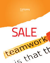 Education & Training: Teamwork Principles Sale Poster Template #07133