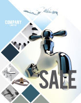 Nature & Environment: Water Tap Sale Poster Template #07138