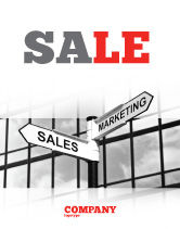 Careers/Industry: Marketing and Sales Sale Poster Template #07207