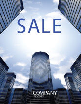 Construction: Business Center In Downtown Sale Poster Template #07208