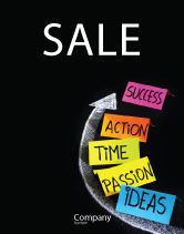 Education & Training: From Ideas to Success Sale Poster Template #07260