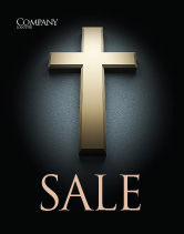 Religious/Spiritual: Cross In The Dark Sale Poster Template #07291