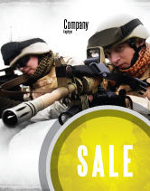 Military: Soldiers In Iraq Sale Poster Template #07321