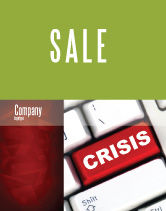 Financial/Accounting: Crisis Button Sale Poster Template #07410
