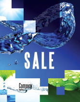 Nature & Environment: Blauw Water Poster Template #07546