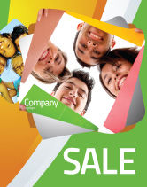 Careers/Industry: Students Team Sale Poster Template #07551
