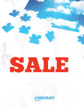 Consulting: Sky Puzzle Sale Poster Template #07563
