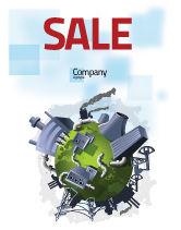 Utilities/Industrial: 污染控制海报模板 #07574