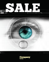 Technology, Science & Computers: Selection of Contact Lenses Sale Poster Template #07585