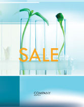 Technology, Science & Computers: Green Sprigs Sale Poster Template #07598