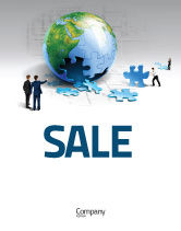 Global: Finalization Of Jigsaw World Sale Poster Template #07611