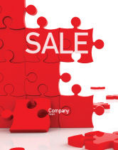 Consulting: Pieces Falling Apart Sale Poster Template #07624