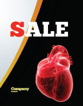 Medical: Model Of Heart Sale Poster Template #07662