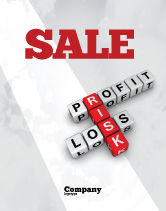 Financial/Accounting: Profit and Risk Sale Poster Template #07669