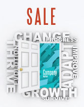 Consulting: Improving Progress Sale Poster Template #07681