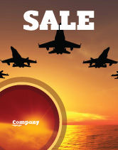 Military: Aircraft Parade Sale Poster Template #07701