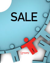 Consulting: Man Cog Sale Poster Template #07715