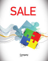 Consulting: Puzzle Solved Sale Poster Template #07757