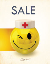Medical: Doctor Emoticon Sale Poster Template #07777