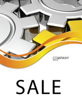 Utilities/Industrial: Spinning Gears Sale Poster Template #07888