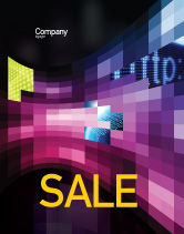 Abstract/Textures: Mosaic Of Pixels Sale Poster Template #07904