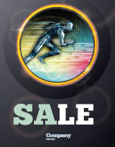 Sports: Running Iron Man Sale Poster Template #07928