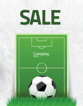 Sports: European Football Field Sale Poster Template #08032