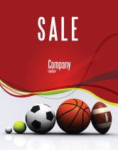Sports: Sport Balls Sale Poster Template #08071