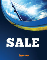 Technology, Science & Computers: Solar Panels In Blue Colors Sale Poster Template #08112