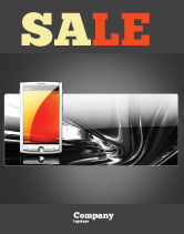 Technology, Science & Computers: Touchscreen Phone Sale Poster Template #08125