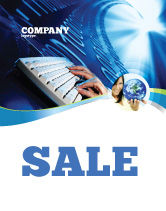 Technology, Science & Computers: Typing Sale Poster Template #08139