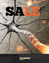 Medical: Neurons Networks Sale Poster Template #08156