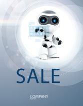 Technology, Science & Computers: Robot Model Sale Poster Template #08181