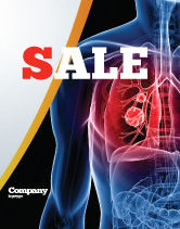 Medical: Lung Cancer Sale Poster Template #08239