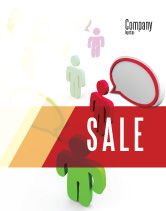 Telecommunication: Communication Area Sale Poster Template #08426