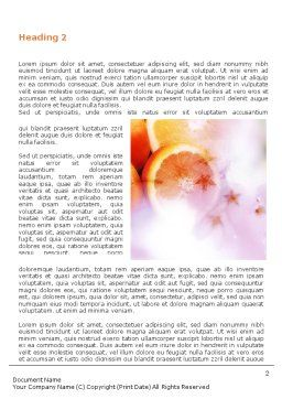 Fresh Fruits Of Summer Word Template First Inner Page