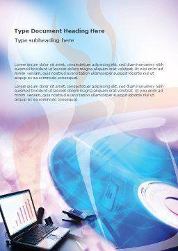 Multimedia Word Template, Cover Page, 00698, Technology, Science & Computers — PoweredTemplate.com