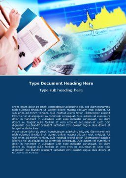 Ready To Report Word Template, Cover Page, 00699, Business — PoweredTemplate.com