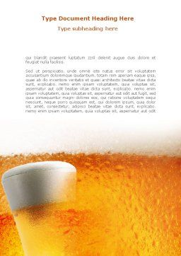 Beer Tumbler Word Template, Cover Page, 00750, Food & Beverage — PoweredTemplate.com