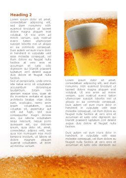 Beer Tumbler Word Template, First Inner Page, 00750, Food & Beverage — PoweredTemplate.com