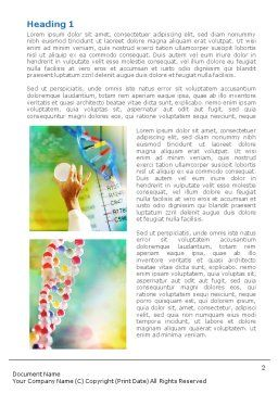 DNA Word Template, First Inner Page, 00759, Technology, Science & Computers — PoweredTemplate.com