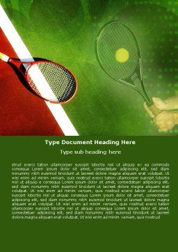 Tennis Rackets Word Template, Cover Page, 00807, Sports — PoweredTemplate.com
